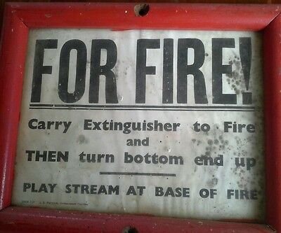 Old fire sign