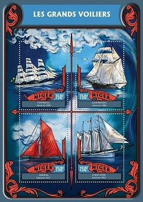 Z08 IMPERFORATED NIG16321a NIGER 2016 Tall Ships MNH