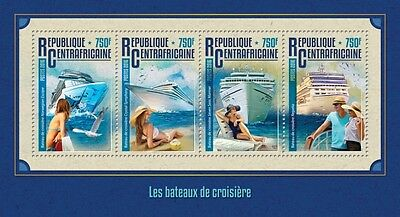 Z08 IMPERFORATED CA16214a CENTRAL AFRICA 2016 Cruise ships MNH