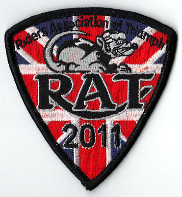 2011 Riders Association of Triumph Motorcycles RAT Patch Badge