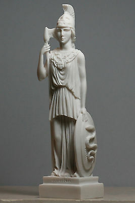 Greek Roman Goddess Athena Minerva Handmade Statue Figure Sculpture 7.48 in