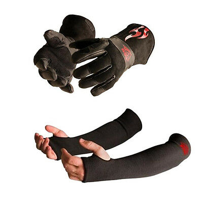Black Stallion BSX BS50 Small MIG Gloves and Kevlar Sleeve Bundle