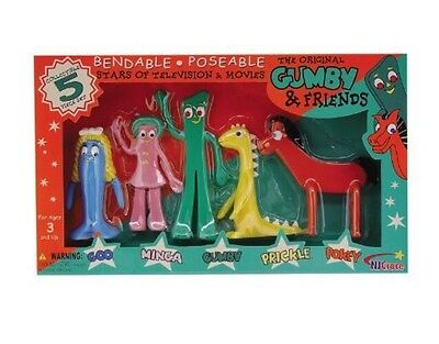 New! NJ Croce Gumby and Friends Action Figure Boxed Set