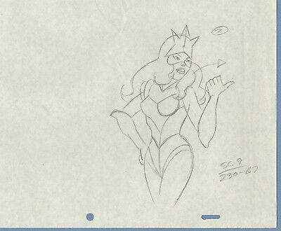 Teen Force LOT (4) cel Drawings 1981 Hanna Barbera HB Space Stars - Awesome set!