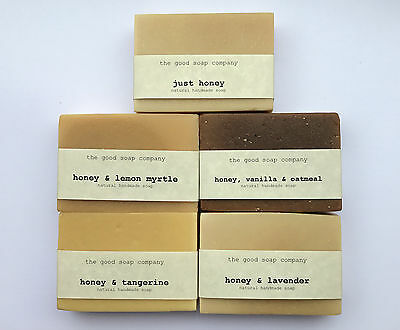 Pure Honey Soap - Natural Handmade Soap - Available in 5 Varieties