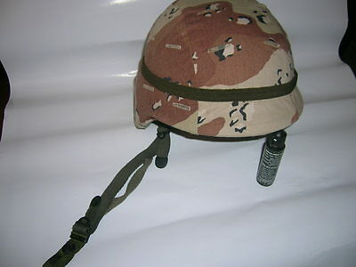 US ARMY PASGT HELMET KEVLAR DESERT STORM 6-color-camo COVER, SHIELD XS REFORGER