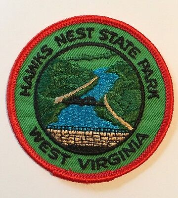 "New Hawk's Nest State Park West Virginia Embroidered Souvenir 3"" Patch"