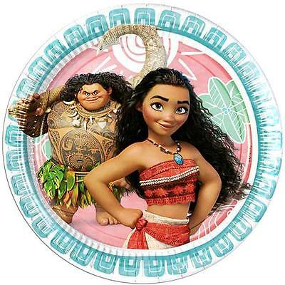 Disney Moana Birthday Party Supplies Paper Plates 23Cm Pk8 Licensed New