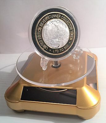 Rotating Solar Powered  Showcase/display for Coins, Ornaments, Jewelery