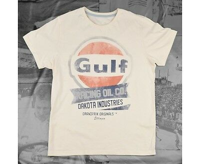 T-shirt GULF Oil Racing beige pour homme