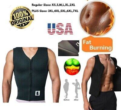 EXTREME PLUS SIZES sauna Men Shirt hot 100% Neoprene 2.5mm shaper Vest Sweat