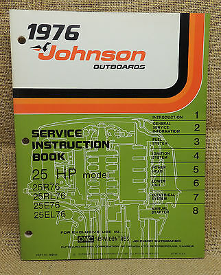 1976 Johnson Seahorse Service Repair Manual 25 HP 25R76 25RL76 25E76 25EL76