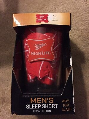 Miller High Life Pint Beer Glass With Sleep Shorts