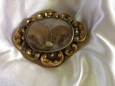Mourning Hair Brooch Pin