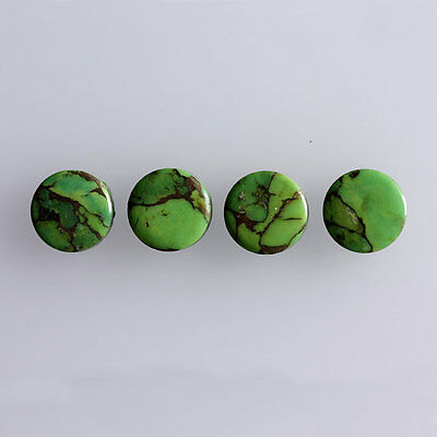 3MM Round Shape, Green Copper Turquoise Calibrated Cabochons AG-228