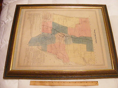 >> Circa 1870  Map Southington , Connecticut from the Beers Atlas Good Condition