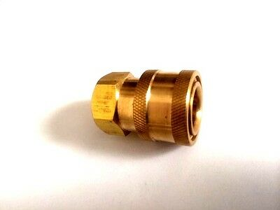 """Pressure Washer 1/4"""" Female (NPT) Brass Quick Connect Coupler"""