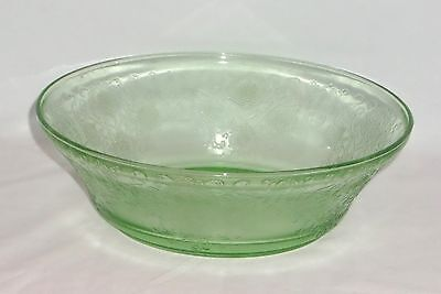 "Hazel Atlas FLORENTINE #2 GREEN *8"" BERRY BOWL*"