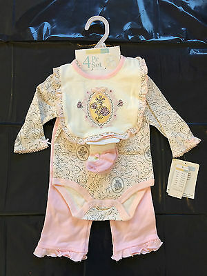New Baby Girls' Sets - 2 sets + 1 pc - Size 6 months - Adorable Pink & White!