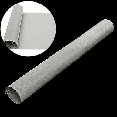 50 Mesh 304 Stainless Steel Filtration Woven Wire Cloth Screen Sheet 40cm x 90cm