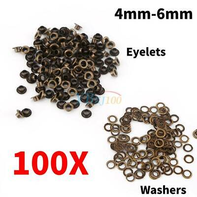 100pcs Metal Eyelets Grommets + Washers Set Leather Craft DIY Sewing Accessories