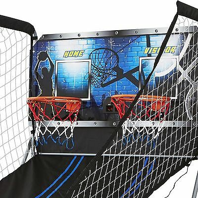 Play 21 Dual 2-Player Arcade Basketball Game Options Outdoors Indoors Dorm Kids