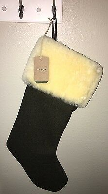 Genuine Filson Christmas Stocking Forest Green Fast Shipping New W/ Tags Seattle
