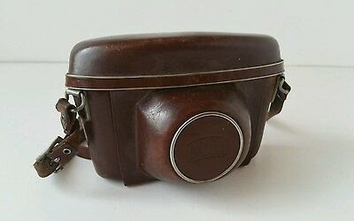 1960's Zeiss Ikon Brown Leather Case for Vintage Contax Cameras