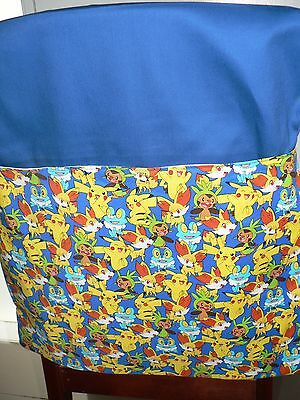 Handmade Chair Bags (Pokemon) Print (b) First name Free Embroidered.