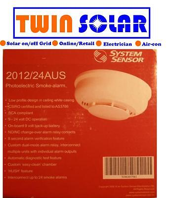 Smoke Detector Alarm System Sensor Photoelectric AS3786 Approved Battery Backup