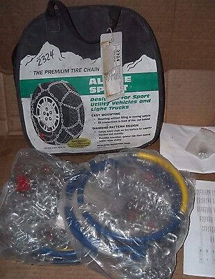 Alpine Sport Tire Snow Chains, stock #2324, Never Used