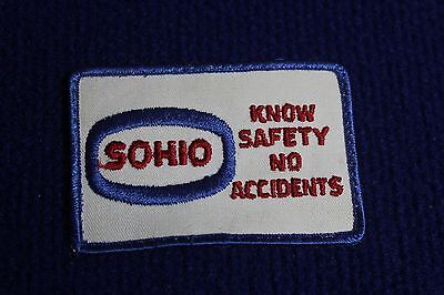 LARGE VINTAGE SOHIO / STANDARD OIL EMBROIDERED UNIFORM PATCH - EARLY 80's