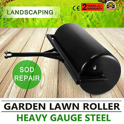 Versatile Garden Push/Tow Lawn Roller Manual Sod Repair Gauge Steel POPULAR