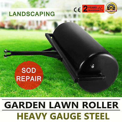 Versatile Garden Push/Tow Lawn Roller Landscaping Water Filled Grass Keeper