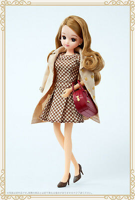"""LiccA Stylish Doll Collections """"Cappuccino one-piece"""" Free Shipping Takara Japan"""