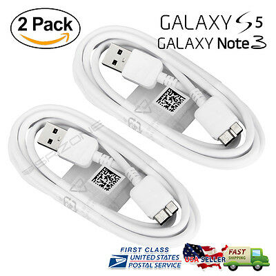 2X OEM Genuine USB Sync Data Charging Cable Cord For Samsung Galaxy Note 3 S5