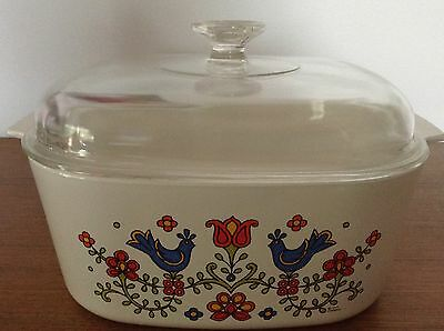 Corning ware Pyrex Vintage Country Festival Large Casserole