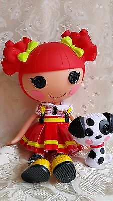Lalaloopsy  Doll  - Ember Flicker Flame &  Pet Dalmation - Ex Cond