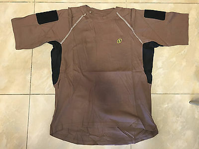 Large Brown Navy Seals Devgru T-Shirt Patch Sleeves aor1 crye lbt ironclad