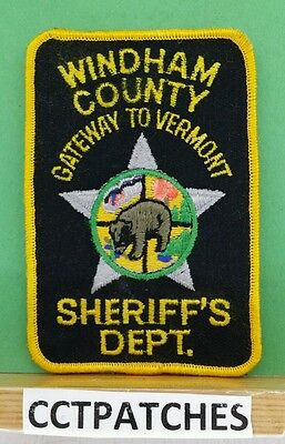 Windham County, Vermont Sheriff Police Shoulder Patch Vt