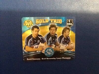 2007 Gold Series  Rugby League Tazo - #61  Gold Trio, Cronulla Sharks