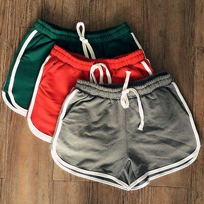 Summer Pants Women Elastic Sports Shorts Gym Workout Waistband Skinny Yoga Short