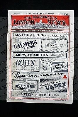 WWII The Illustrated London News 1945, German V-2 Rocket Bomb, Emperor Hirohito