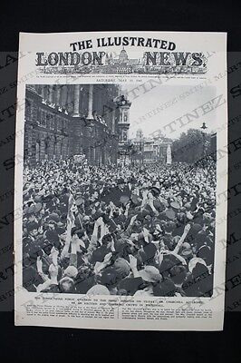WWII The Illustrated London News 1945 - General Eisenhower, W. Churchil