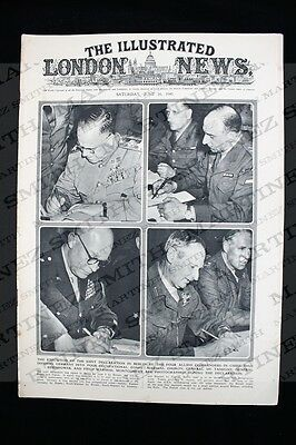 WWII The Illustrated London News 1945 - Joint Declaration Berlin, Burma Victory