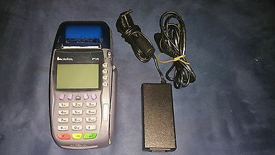 Verifone Vx570 (Omni 5750) Credit Card Terminal Dial/Emv w/Power adapter & Cable