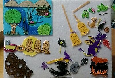 Felt Board/flannel Story Rhyme Teacher Resource - Room On The Broom/halloween