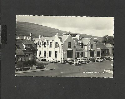Vintage Real Photo Postcard Exterior Albington Hotel cars unposted