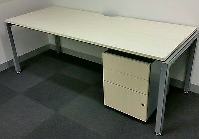 WORK STATION OFFICE DESK  + MOBILE UTILITY  FILING CABINET FURNITURE METAL table