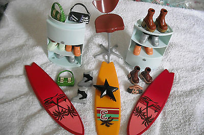 """My Scene Dolls Play Items Counters X 2 Boots/chair/ect/mattel Fits 12""""vgc Used."""